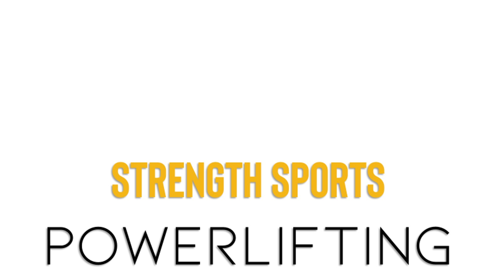 strength sports powerlifting