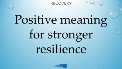 positive meaning for stronger resilience