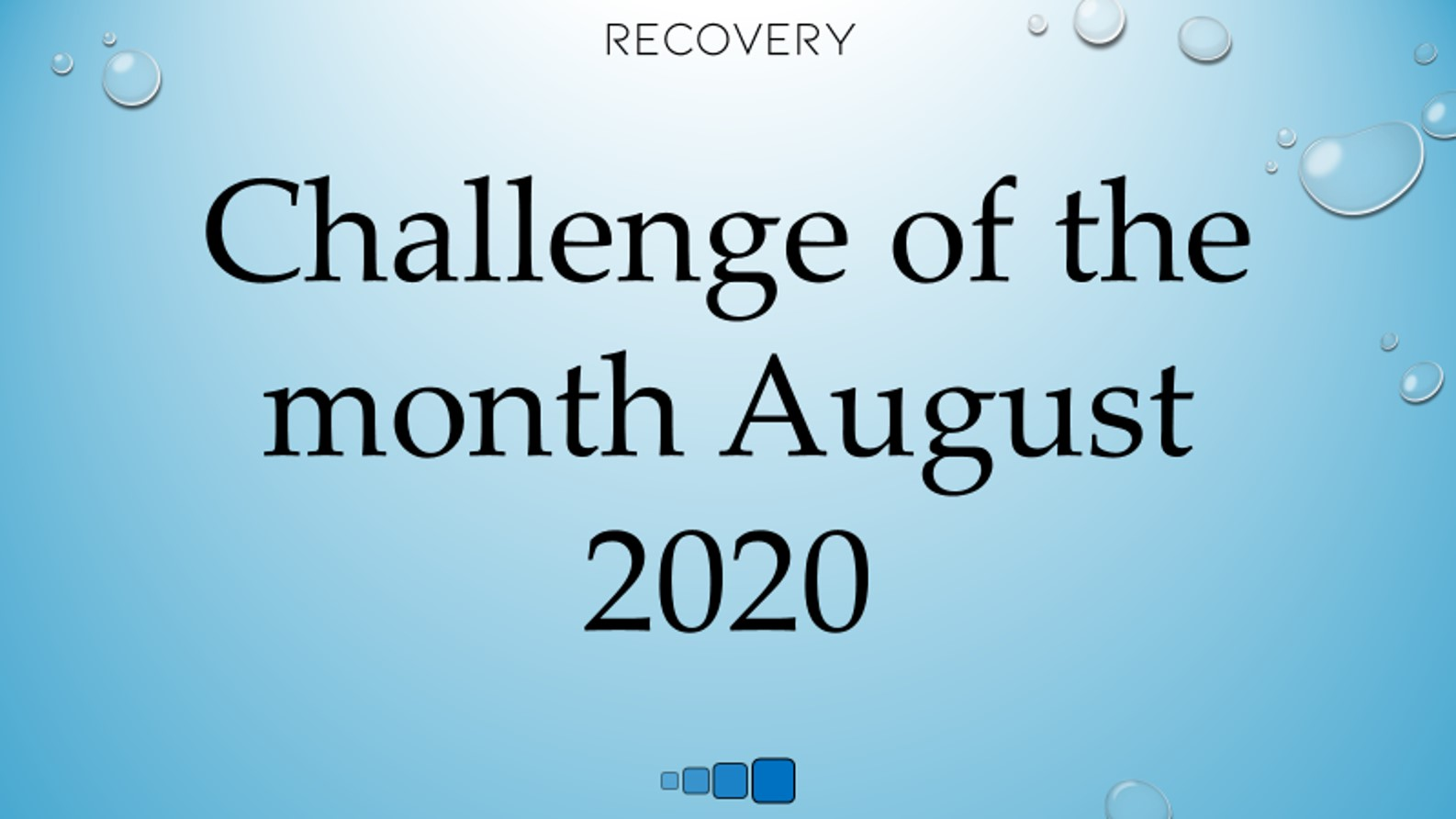 challenge of the month August 2020