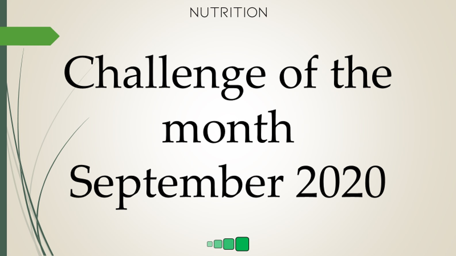 challenge of the month september 2020