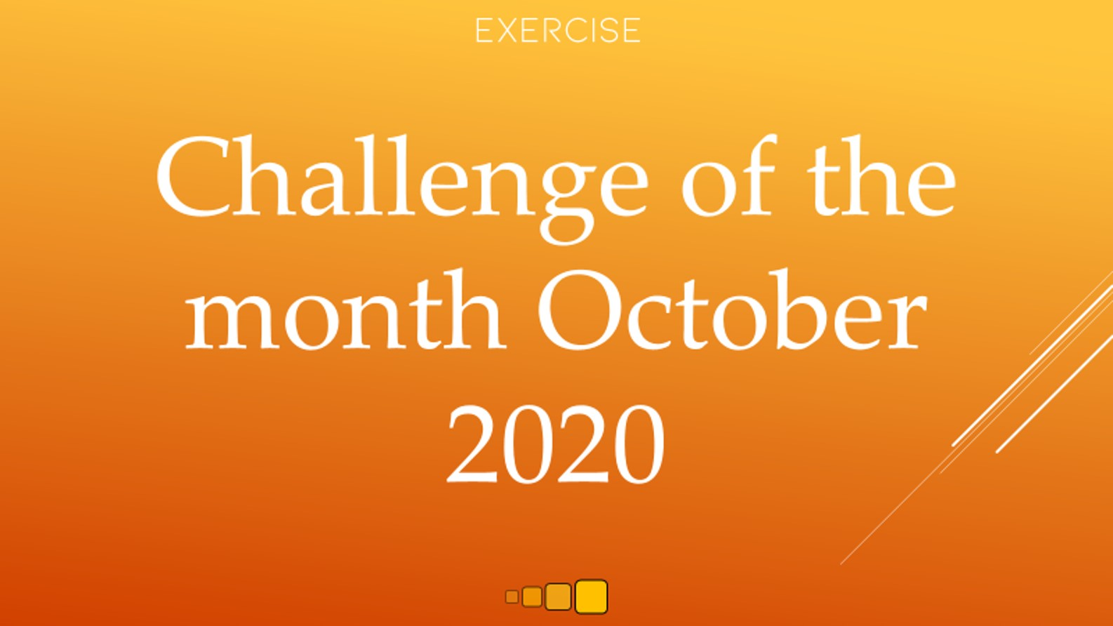 challenge of the month october 2020