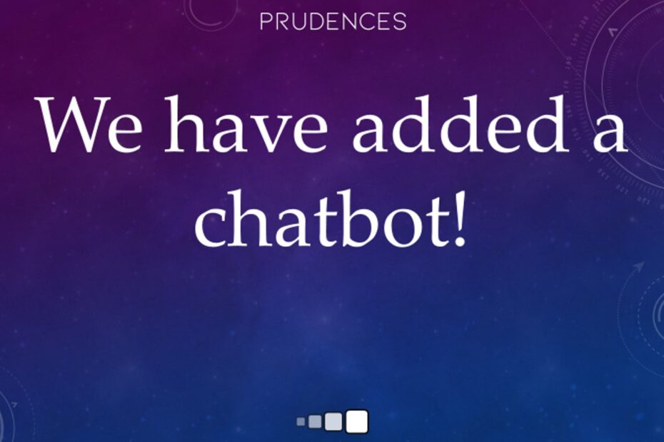 we have added a chatbot