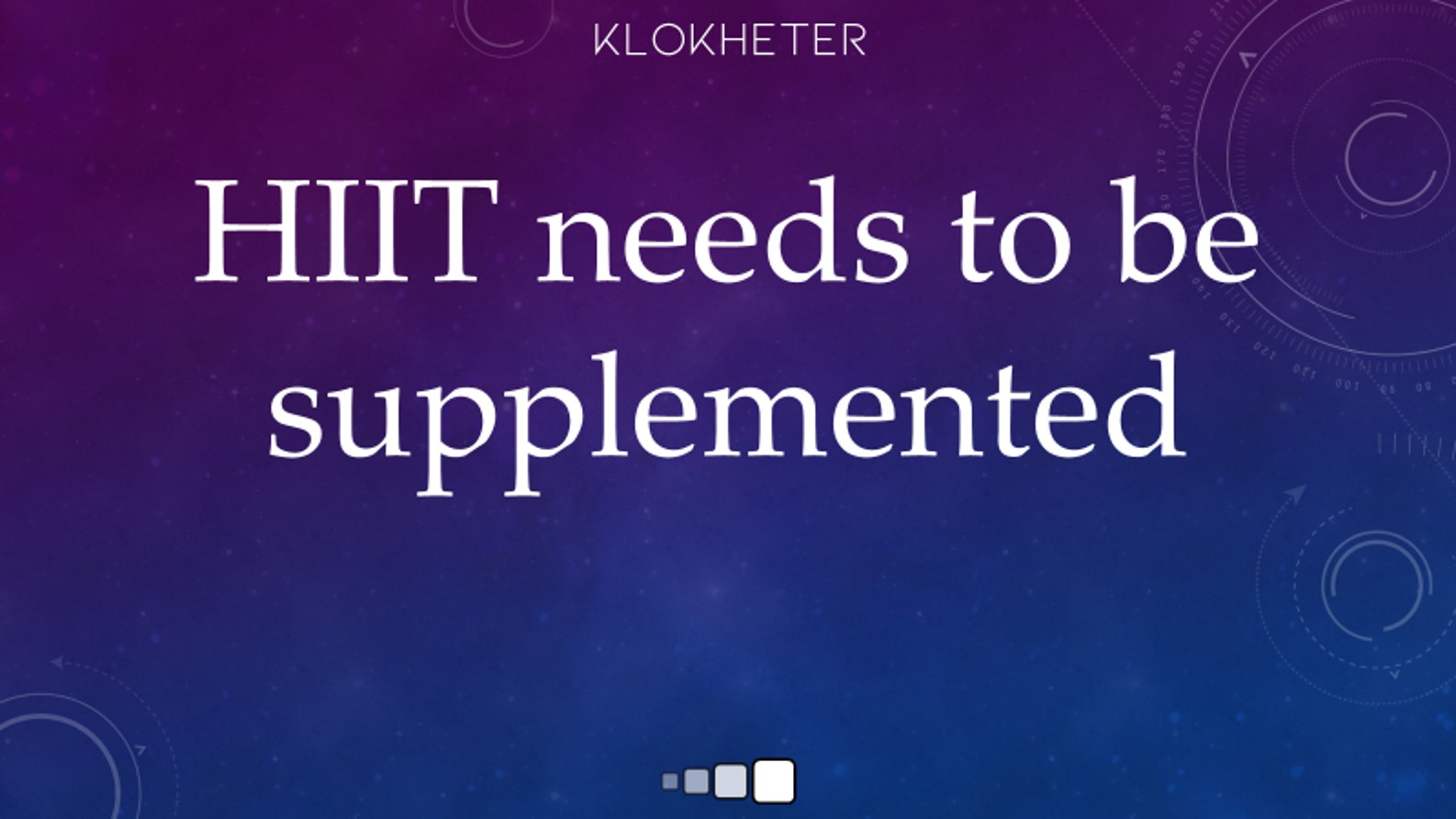 hiit needs to be supplemented