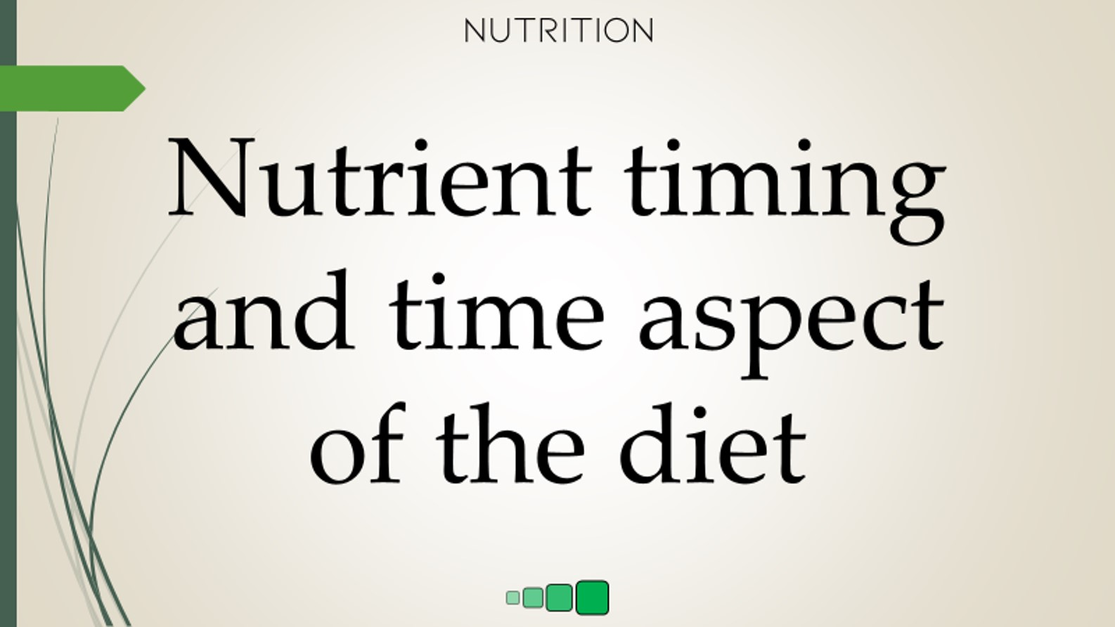 nutrient timing and time aspect of the diet