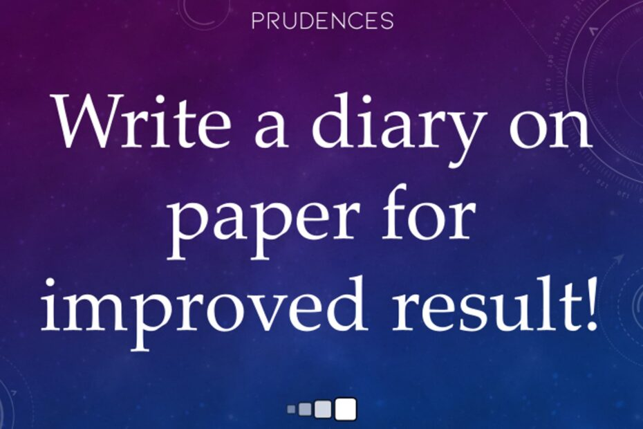 write a diary on paper for improved result