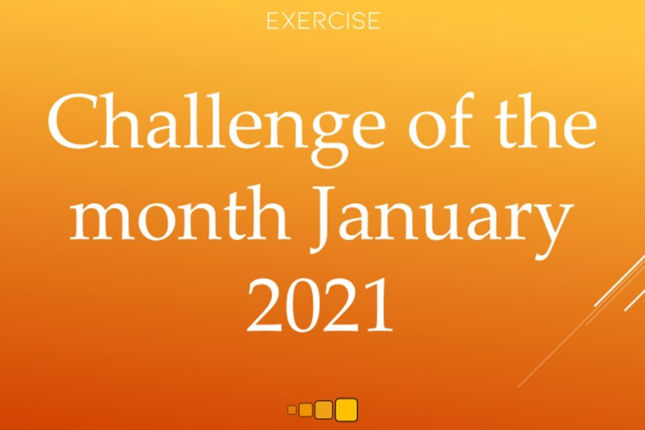 challenge of the month january 2021
