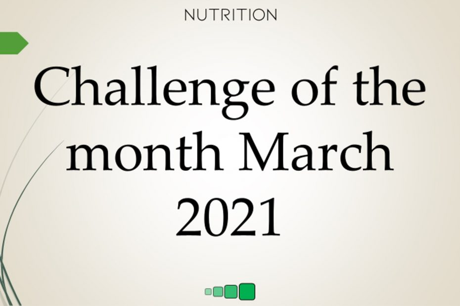 challenge of the month march 2021