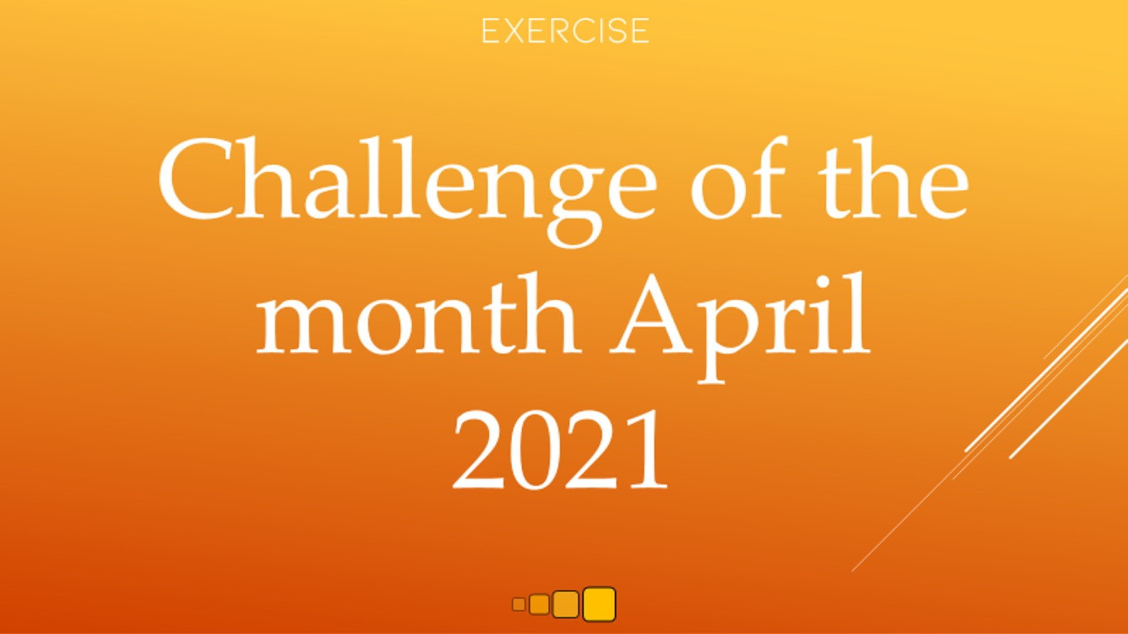 challenge of the month april 2021