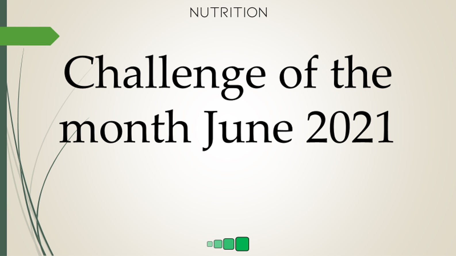 challenge of the month June 2021