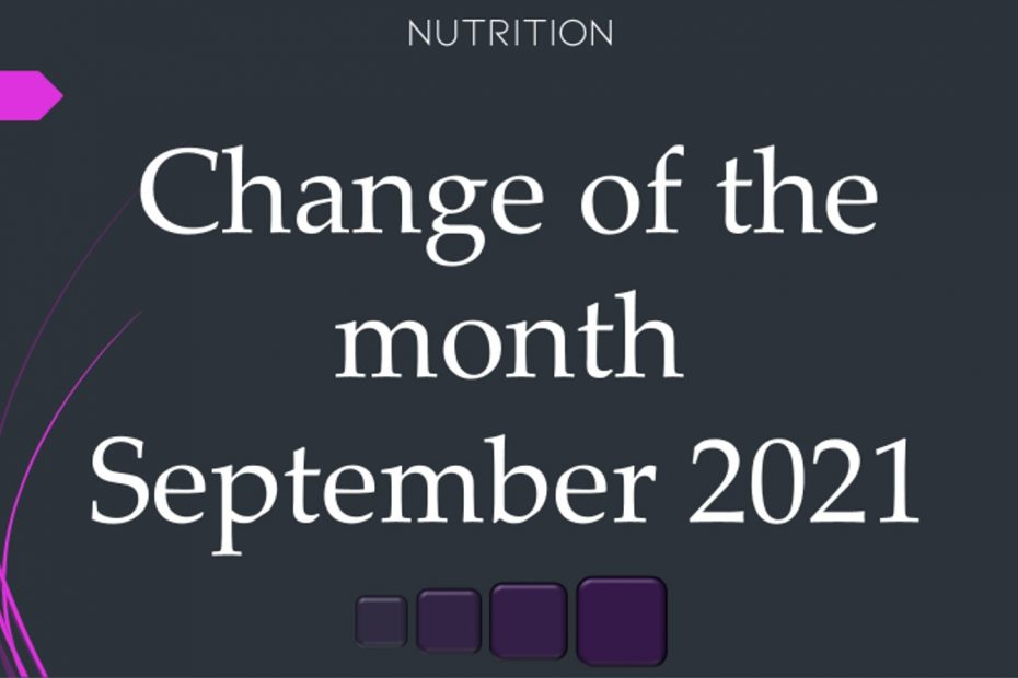 change of the month september 2021